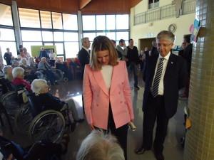 Il Ministro della Salute Beatrice Lorenzin in visita alla Casa di riposo Villa Ilvana