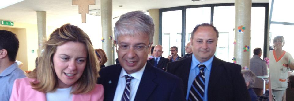 Il Ministro della Salute Lorenzin in visita a Villa Ilvana